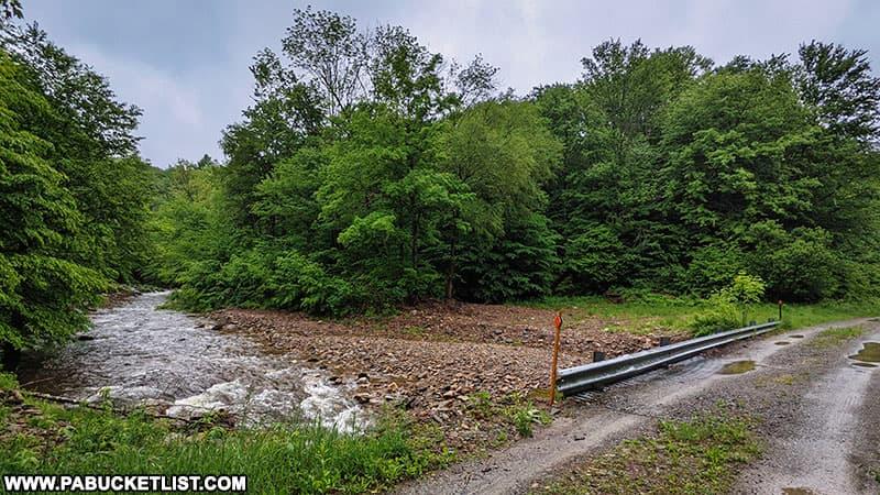 Little Schrader Creek Bridge on State Game Lands 12 in Bradford County, PA.