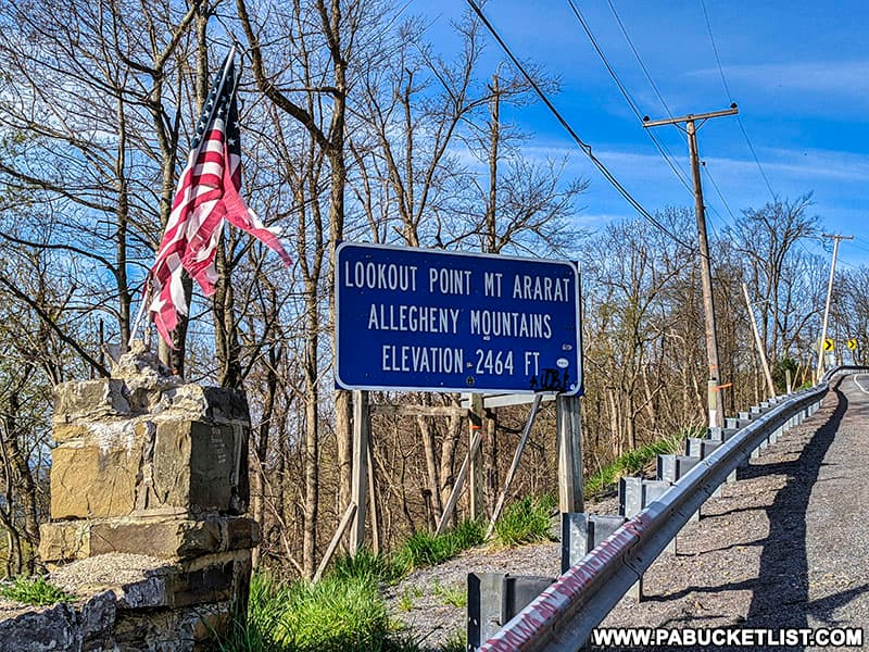 Grand View Point was renamed Mount Ararat in the 1970s by the state of Pennsylvania.