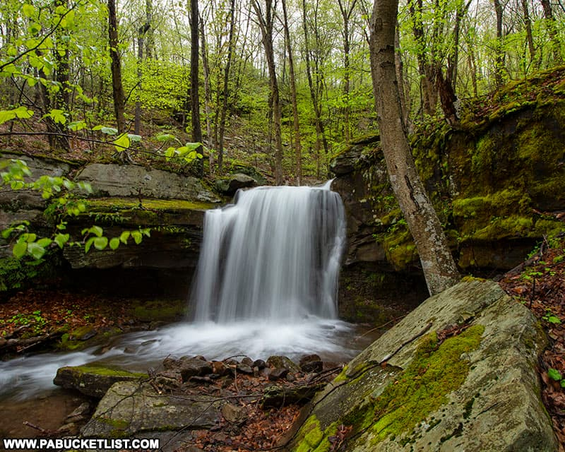 Lower Deep Hollow Falls on State Game Lands 36.