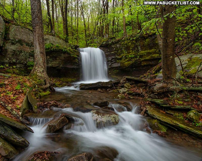 Lower Deep Hollow Falls in Bradford County PA