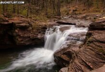 Mill Creek Falls in the Loyalsock State Forest.