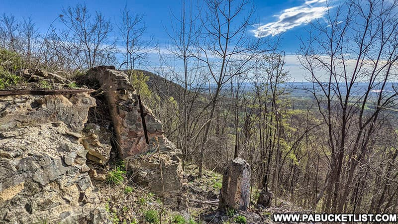 Remains of the Grand View Ship Hotel along Route 30 in Bedford County PA