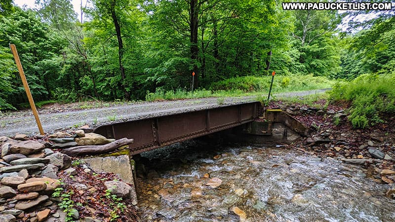 Thomas Run Bridge on State Game Lands 12 in Bradford County Pennsylvania