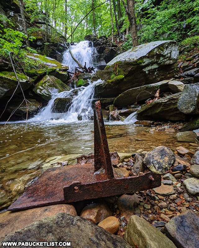 Remnants of the industrial age near Thomas Run Falls in Bradford County PA