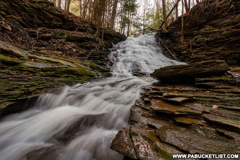 Upper Middle Branch Falls in the Loyalsock State Forest.