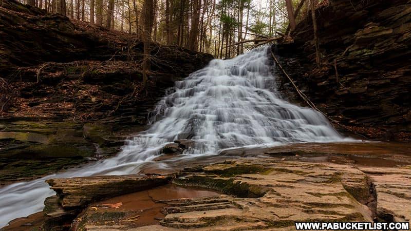Upper Middle Branch Falls in Sullivan County Pennsylvania