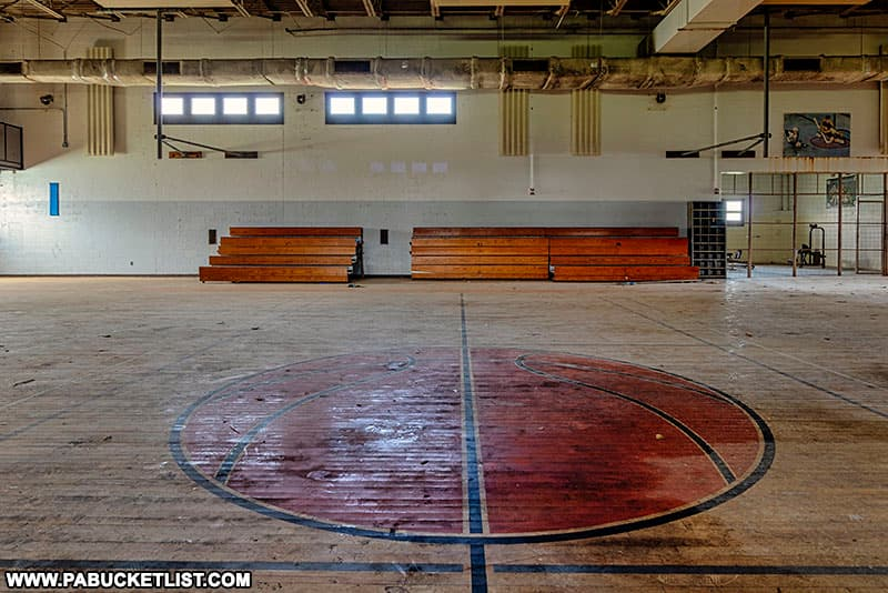 Mid-court at the former SCI-Cresson gymnasium.