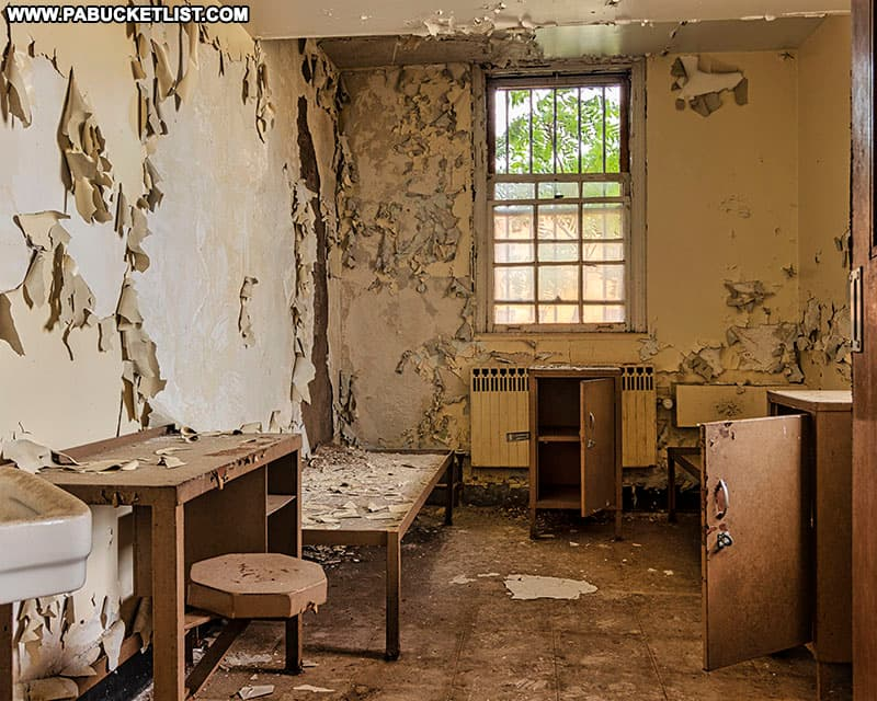 An older cells at the abandoned Cresson State Prison.