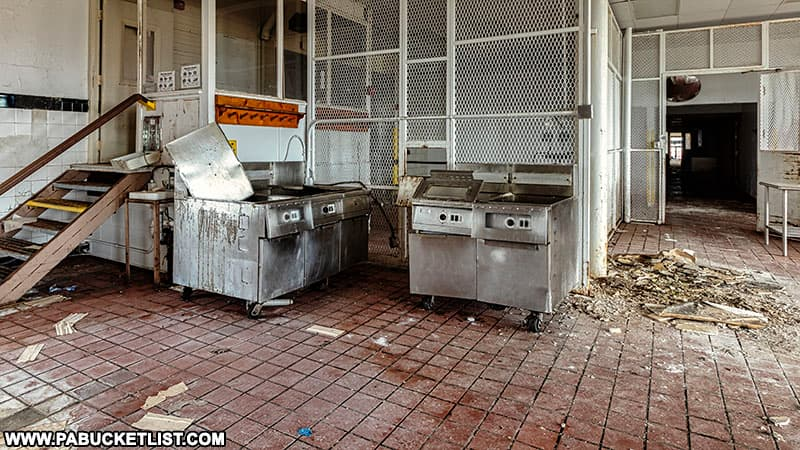 Kitchen at the abandoned SCI-Cresson in Cambria County.