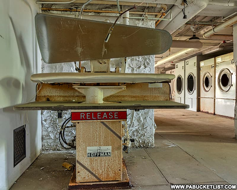Laundry room at the abandoned Cresson State Prison.