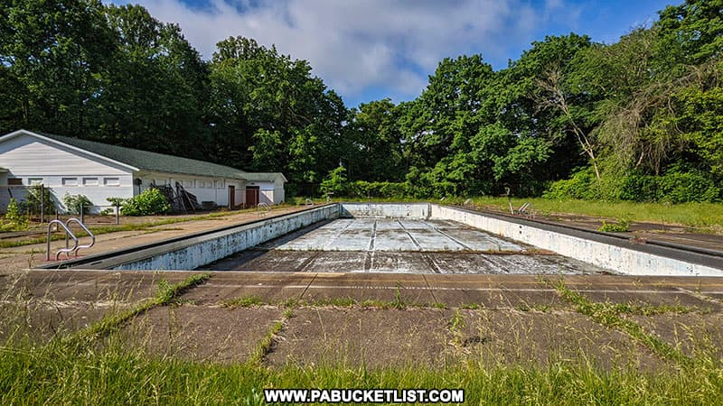 Abandoned swimming pool at Cascade Park in New Castle PA
