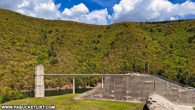 The Alvin Bush Dam on Kettle Creek in Clinton County Pennsylvania.