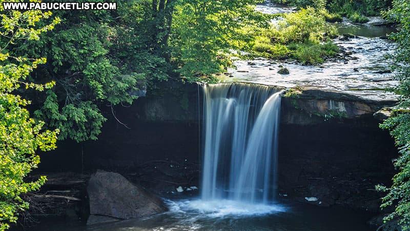 Big Run Falls at Cascade Park in New Castle Pennsylvania.