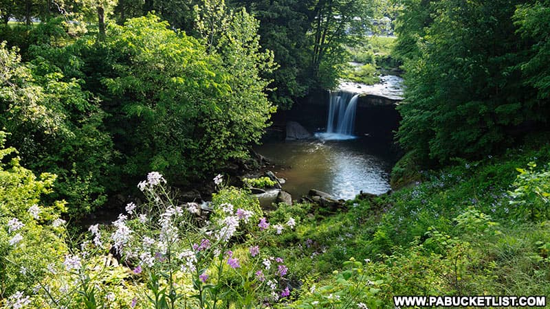 Big Run Falls at Cascade Park in New Castle Pennsylvania