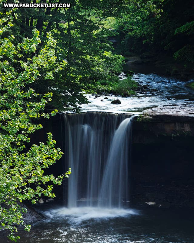 Big Run Falls in Lawrence County Pennsylvania.