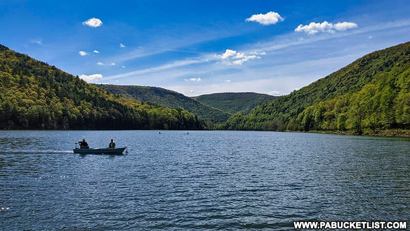 Boating at Sinnemahoning State Park.