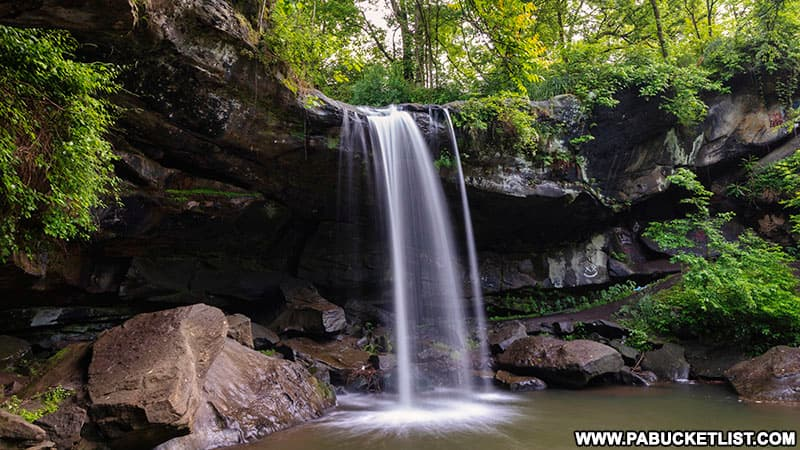 Buttermilk Falls in Beaver Falls Pennsylvania.