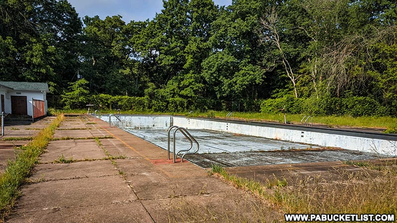Ruins of an old swimming pool at Cascade Park in Lawrence County.