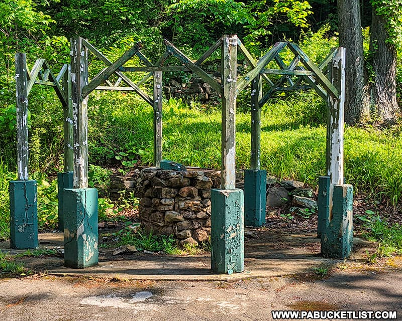Ruins of an old wishing well at Cascade Park in New Castle Lawrence County PA.