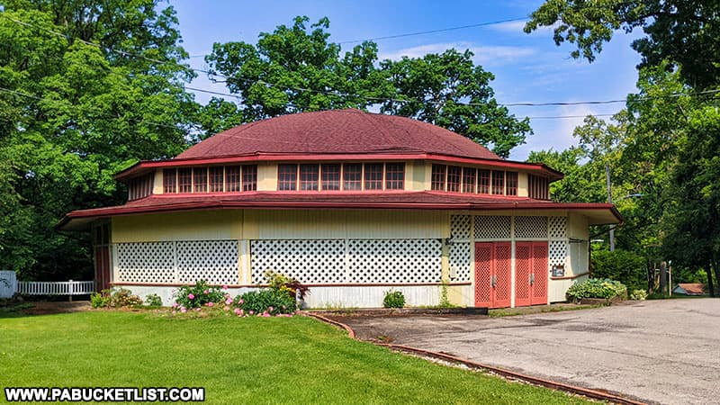 The building that housed the carousel at Cascade Park in Lawrence County.