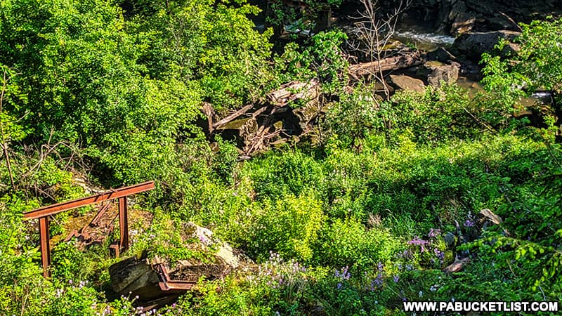 Remains of a roller coaster at Cascade Park. in New Castle Pennsylvania