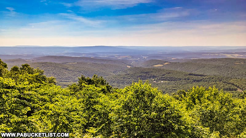Looking east out over Bedford County from the Gallitzin State Forest.