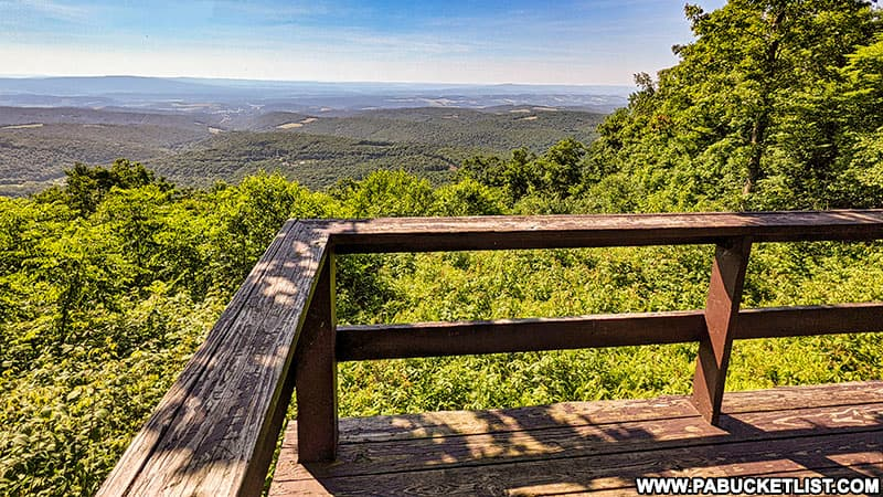 Looking out over Bedford County from the County Line Vista in the Gallitzin State Forest.