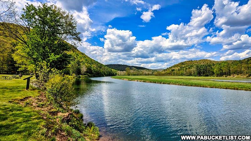Looking north at Kettle Creek Reservoir.