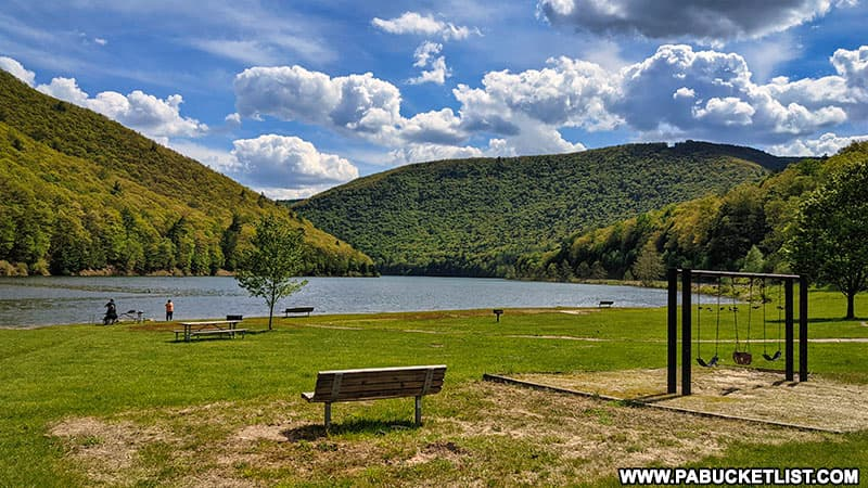 Kettle Creek State Park in Clinton County Pennsylvania.