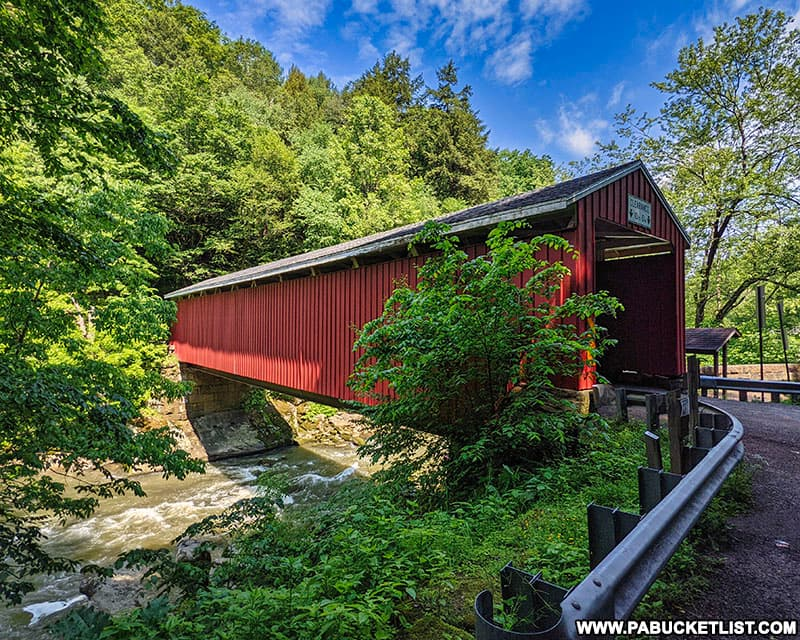 McConnells Mill Covered Bridge in Lawrence County, Pennsylvania.