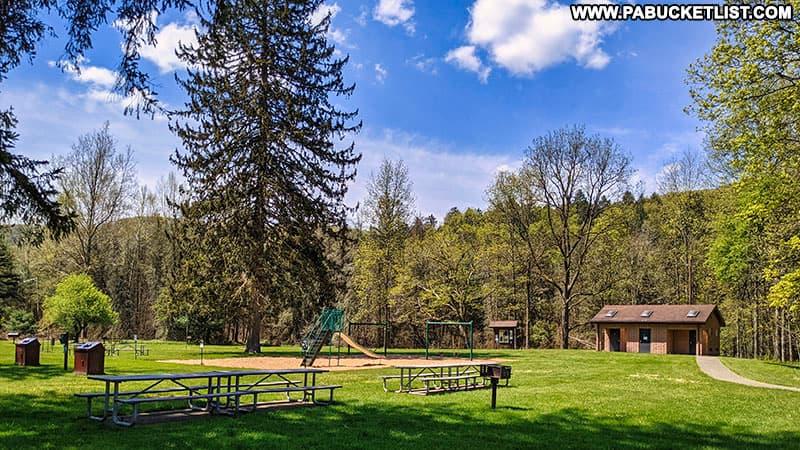 Playground at Sinnemahoning State Park.