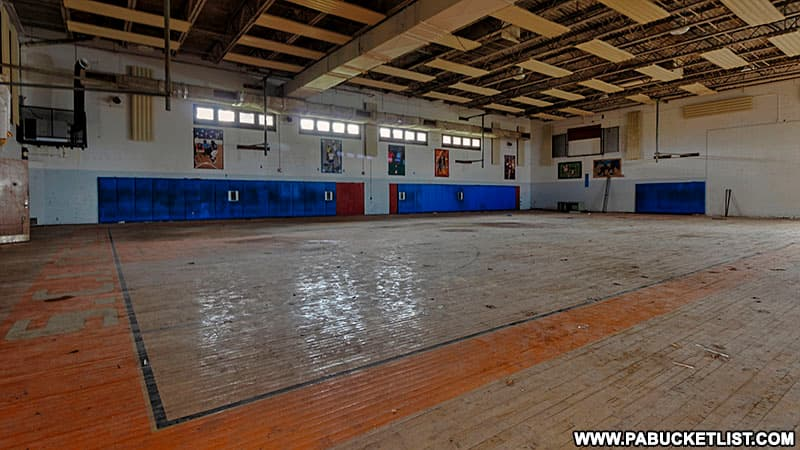 Basketball court at the former SCI Cresson in Cambria County.