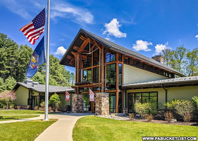The Sinnemahoning State Park office in Cameron County.