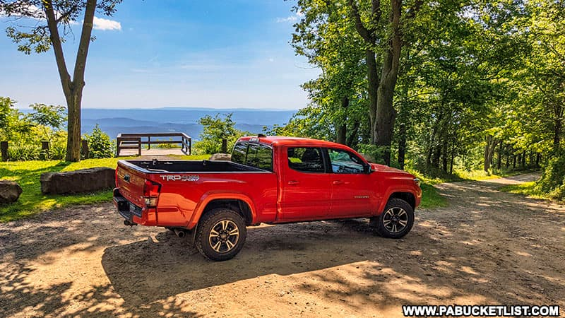 How to find the roadside Skyline Drive Vista in the Gallitzin State Forest.