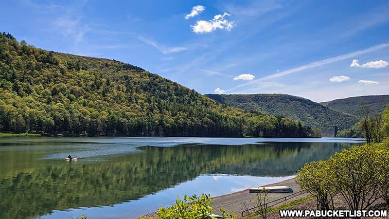 Stevenson Reservoir at Sinnemahoning State Park.