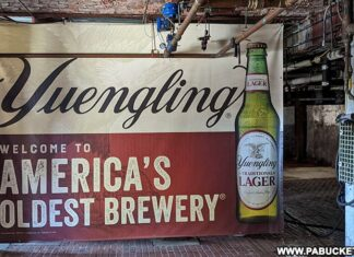 Entering the Yuengling Brewery for the free tour.
