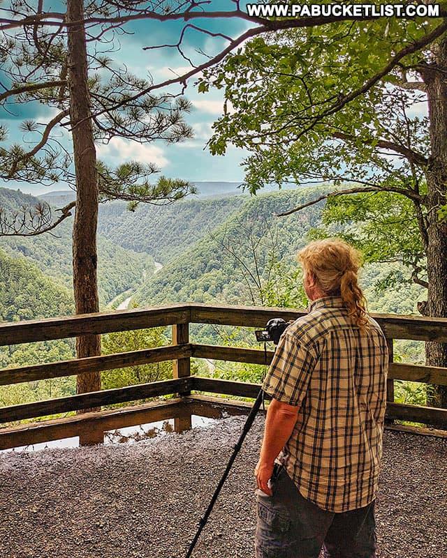 Barbour Rock Overlook in Tioga County, Pennsylvania.