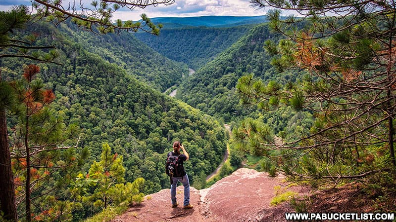 Hiking to Barbour Rock Overlook in the PA Grand Canyon.