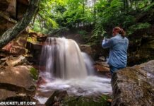 How to find Fall Brook Falls in Tioga County Pennsylvania.