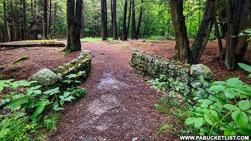 Old stone bridge along the Fall Brook Falls Trail in Tioga County.