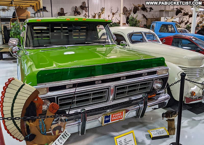 Vintage Ford truck on display at the Grice Museum in Clearfield.