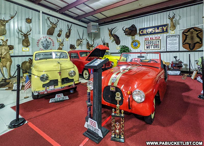Crosley display at the Grice Museum in Clearfield Pennsylvania.