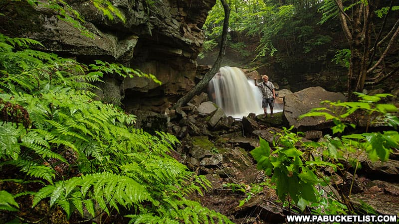 Hiking to Lower Fall Brook Falls on a summer morning in Tioga County PA