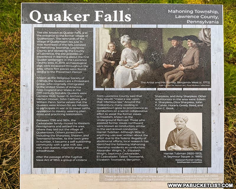 A history of Quakertown, the village that was once located near Quaker Falls.