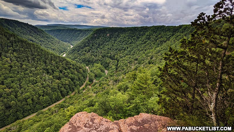 View from Barbour Rock Overlook in Tioga County PA