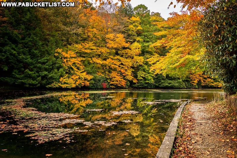 Leaf peeping at Kooser State Park in October.
