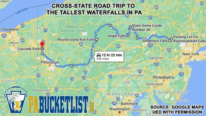 A guide to taking a cross-state road trip to visit the tallest waterfalls in Pennsylvania.