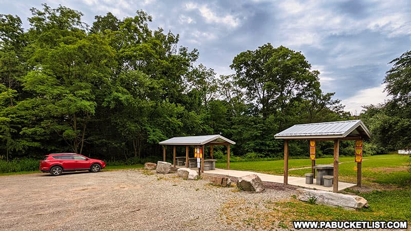 The Mill Creek Falls parking area at shooting range on State Game Lands 42 in Westmoreland County.