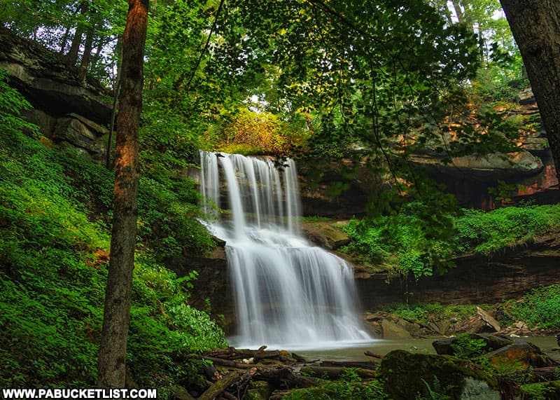 Approaching Quaker Falls in Lawrence County Pennsylvania.