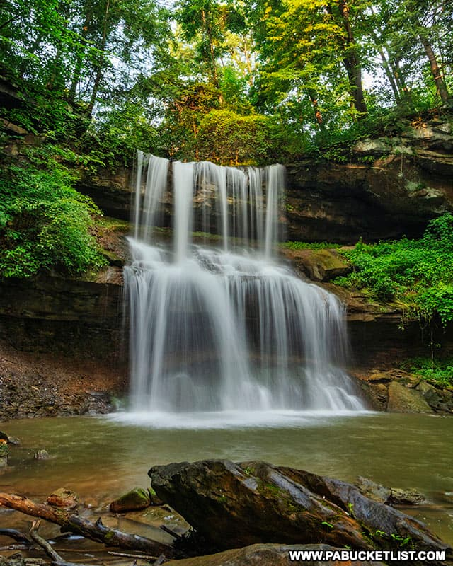 Quaker Falls in Lawrence County Pennsylvania.